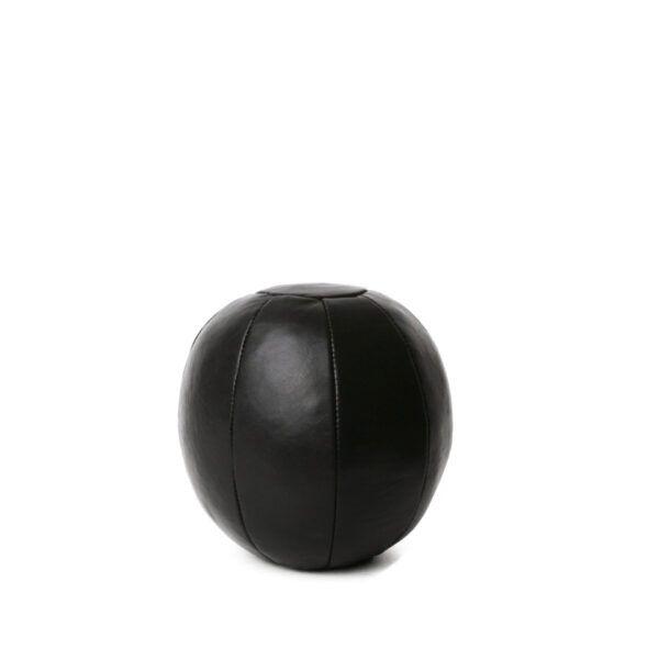 lille-rund-dørstopper-i-laeder-sort
